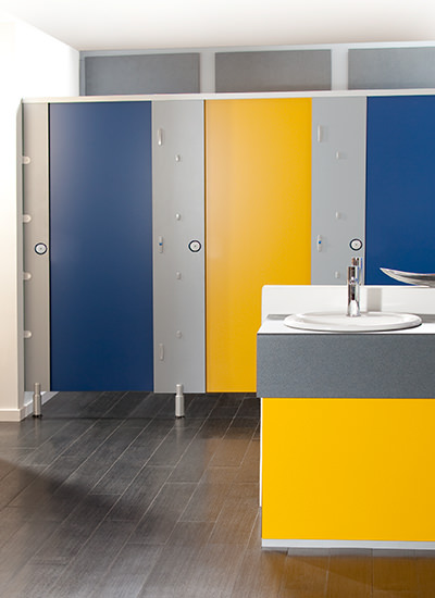 Toilet cubicles wc panel systems for washrooms cubicle for Children s bathroom designs
